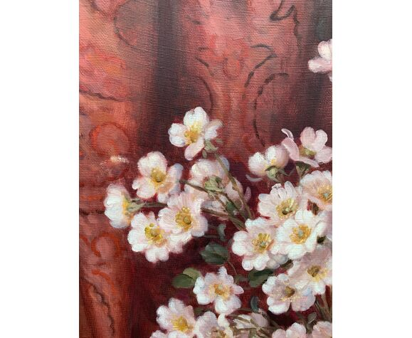 """Peinture """"Nature morte aux fleurs"""""""