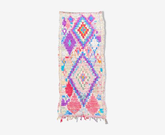 Tapis marocain Boucherouite - 205x80cm