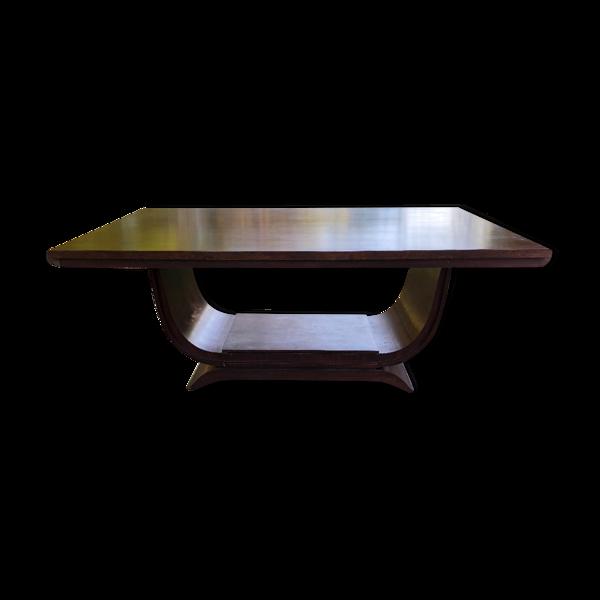 Selency Table salle à manger art deco en palissandre