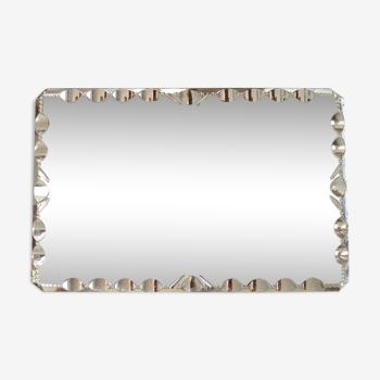 Bevelled mirror 42x27cm