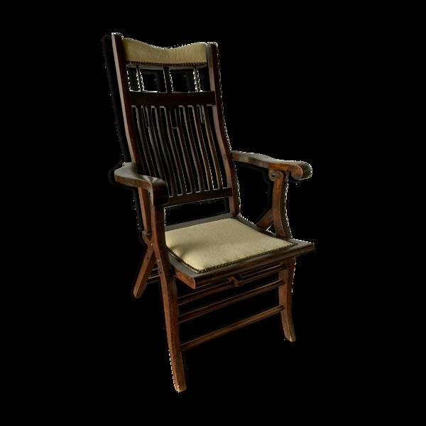 Ancien fauteuil de dentiste a système Noyer massif XIX siècle