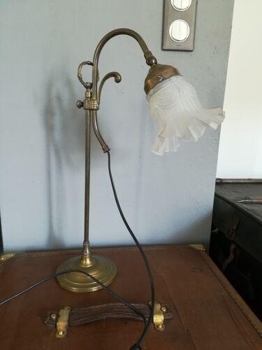 Ancienne lampe de bureau col de cygne