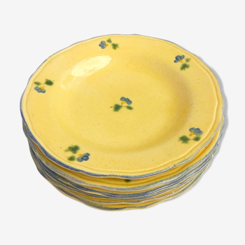 Set de 6 assiettes Terres de Provence jaunes