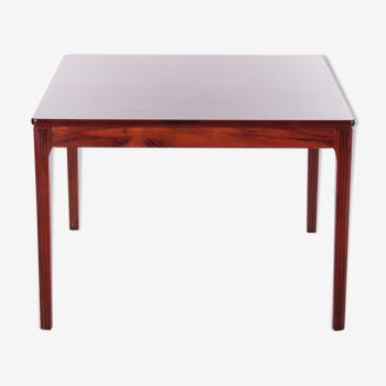 Square Danish designer Rosewood coffee table, 1970s