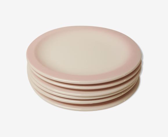 Set de 6 assiettes à dessert vintage, Ceramica CCC, Italie