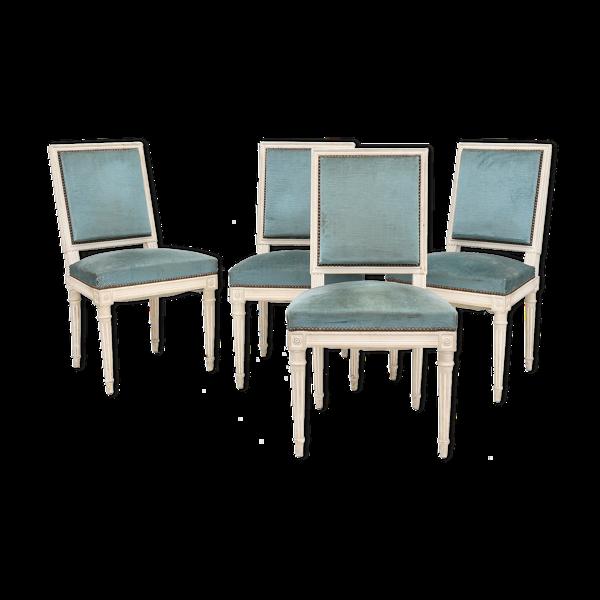 Selency Suite de 4 chaises style Louis XVI