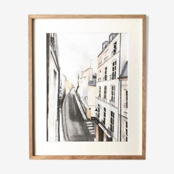 Dessin Paris par Lilou, œuvre originale