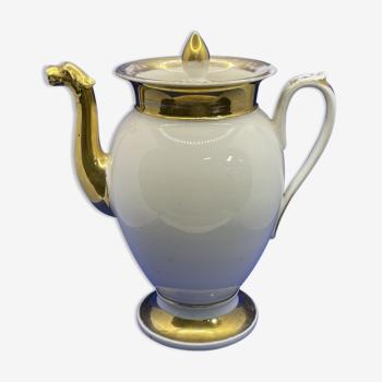 Verseuse en porcelaine de Paris XIXème