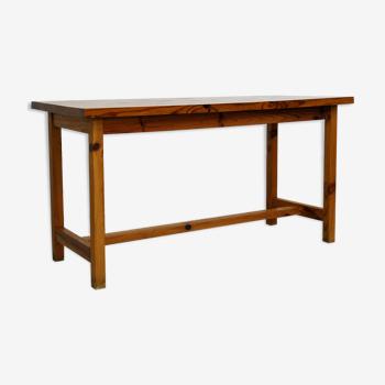 Table en pin massif années 70