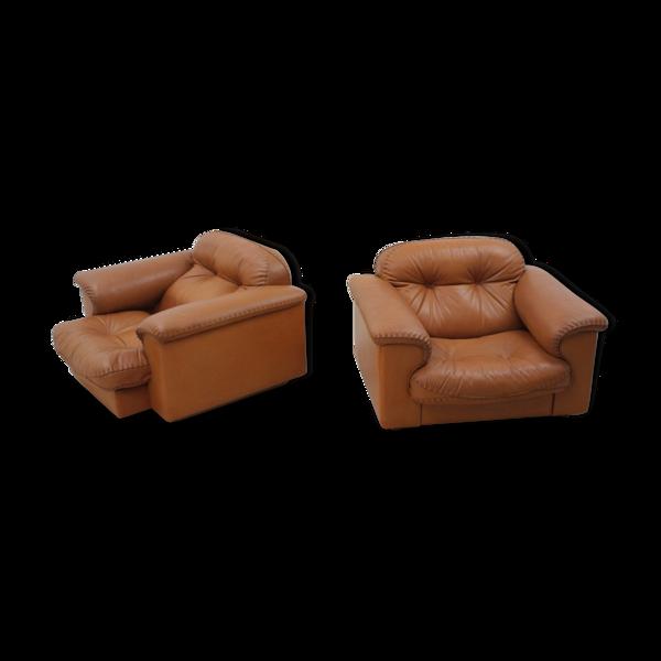 De Sede «DS 101» fauteuils en cuir années 1970