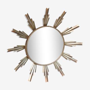 Miroir soleil vintage 1970 - 48cm