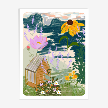 Illustration «Jardin» A4