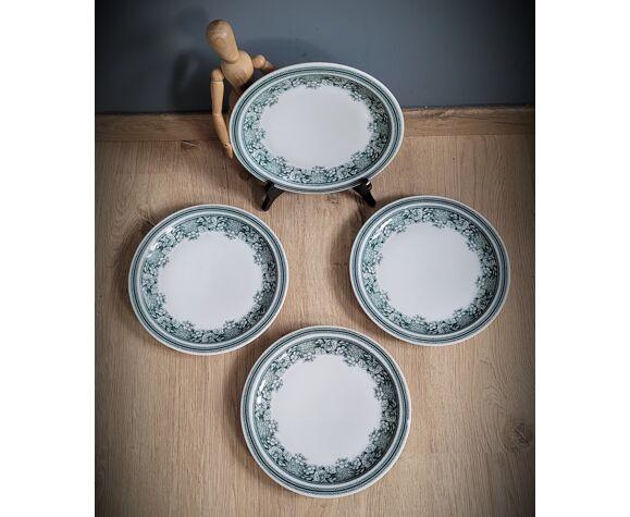 Set 4 assiettes plates Mosa de Maastricht
