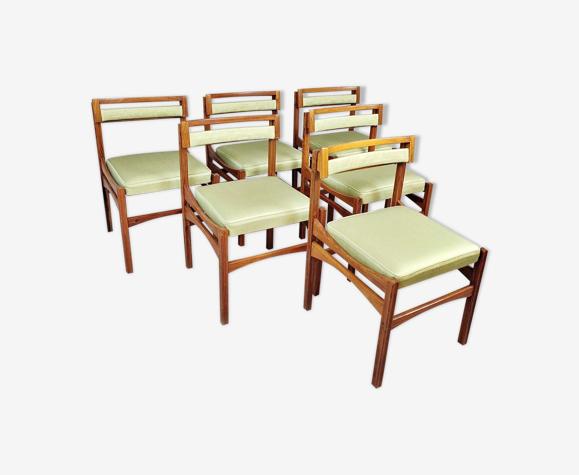 Set de 6 chaises de salon Italie 1960s