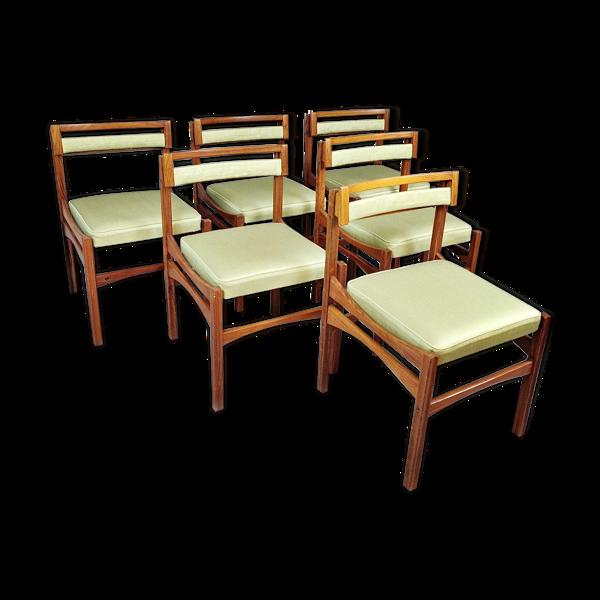 Selency Set de 6 chaises de salon Italie 1960s
