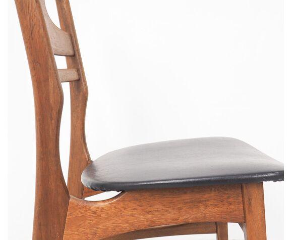4 chaises danoises en teck, années 60