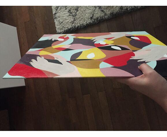 Tableau acrylique Crazy