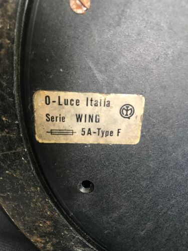 Lampadaire halogène noir Wing Oluce Gecchelin Italia 1970