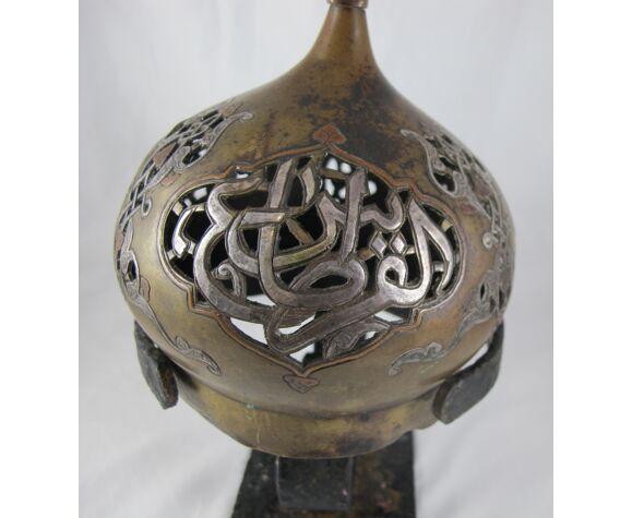 Ancien porte bougie ou brule parfum ottoman syrie qajar islamic
