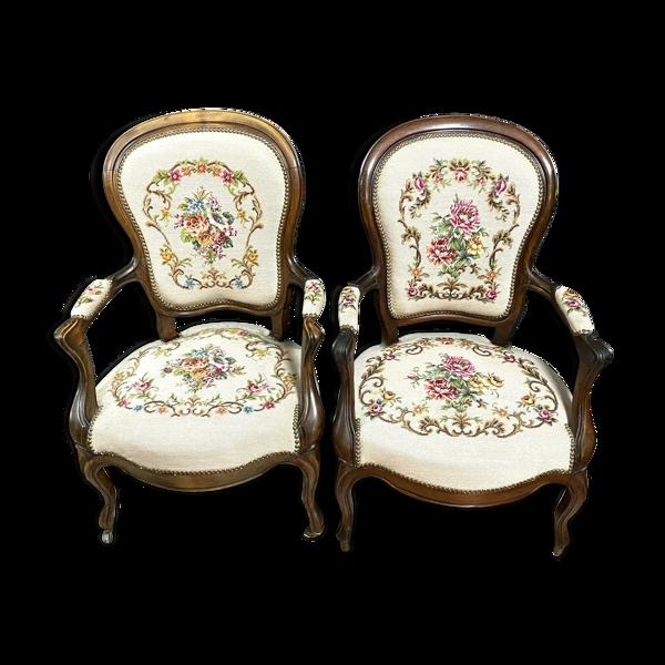 Selency Paire de fauteuils époque Louis Philippe en acajou