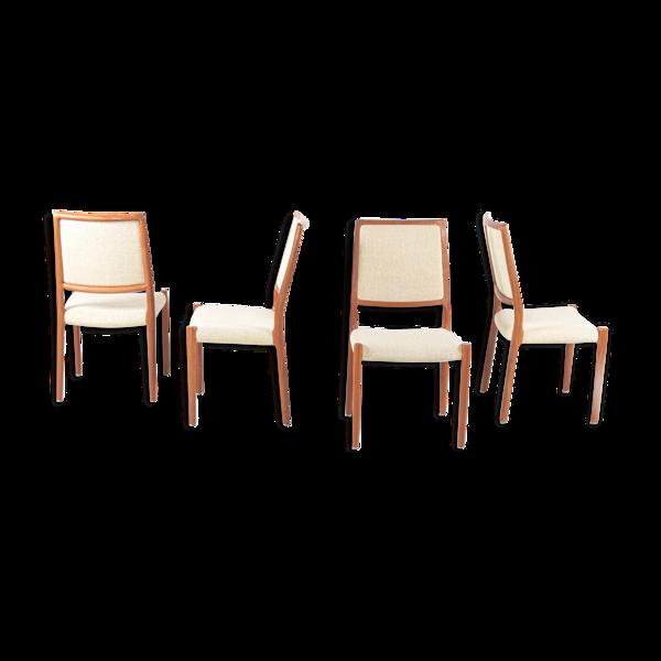 Selency 4 chaises par Niels Otto Moller, Danemark