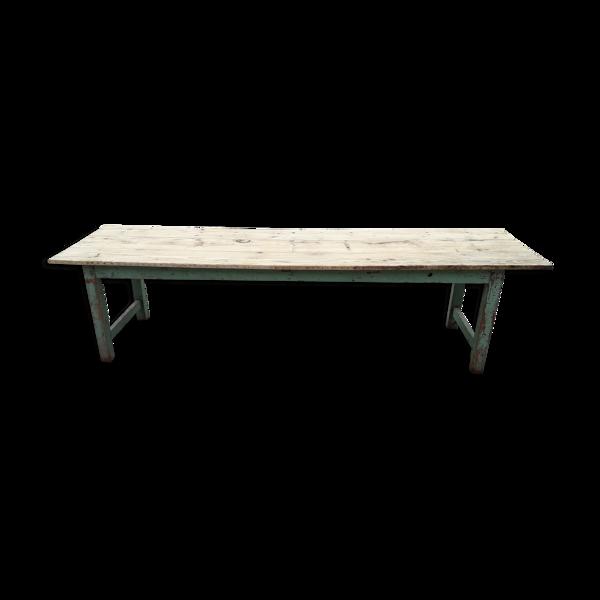 Selency Table de ferme patinée 300 cm