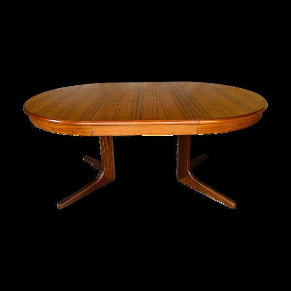Table à manger style scandinave extensible à double allonges par Maison Ducau, Circa 1970