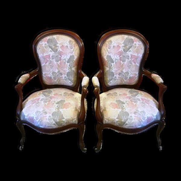 2 fauteuils Louis XV