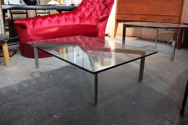 Table basse design années 1980
