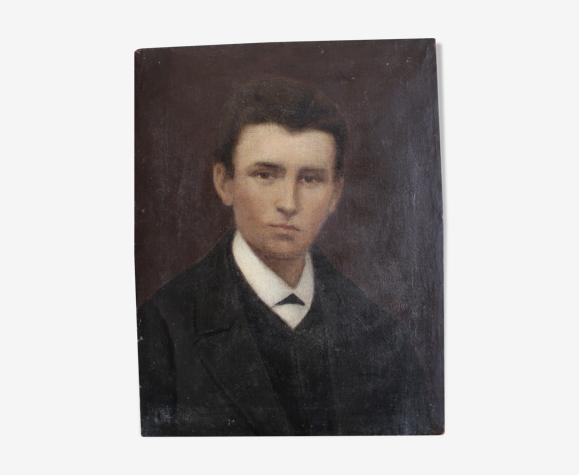 Portrait à l 'huile d'un jeune homme