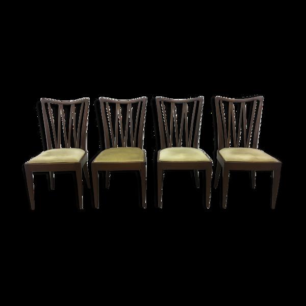 Lot de 4 chaises a manger Patijn vintage années 1950