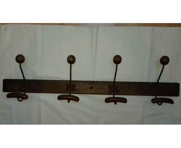 Coat Rack Wood Door Hat And Old Iron, Old Wooden Door Coat Rack