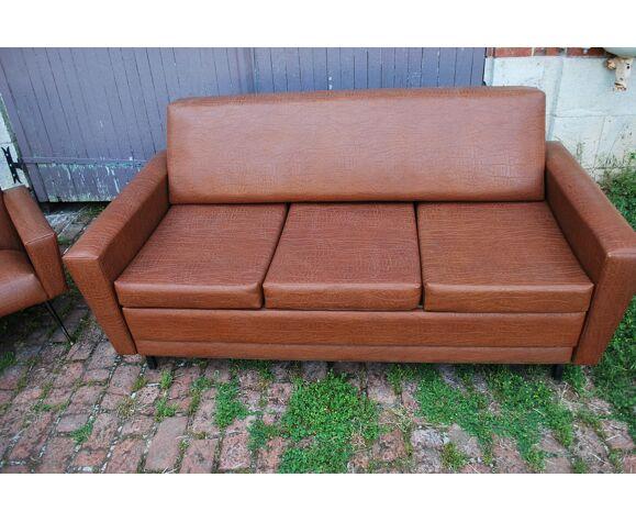 Canapé et deux fauteuils vintage