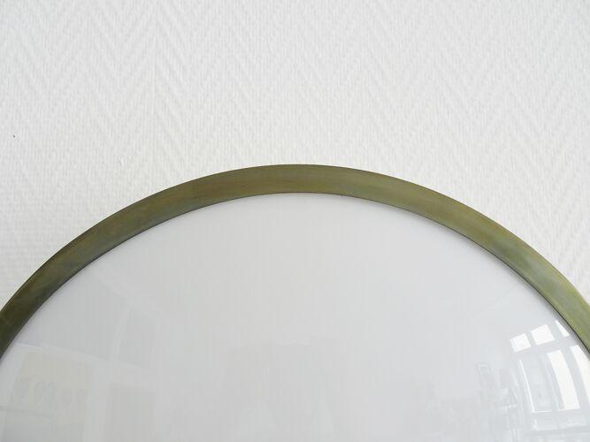Applique murale ou plafonnier en plexiglas et en laiton, plafond du milieu du siècle de 50 diamètres
