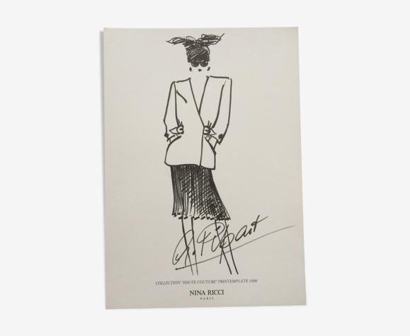 Esquisse de mode Nina Ricci collection printemps/été 1998