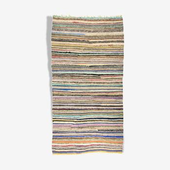 Tapis kilim anatolien fait à la main 274 cm x 144 cm