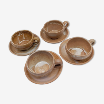Set of cups and saucers ceramic
