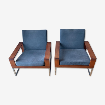 Pair of armchairs 60 year Bert Lieber by wilhelm