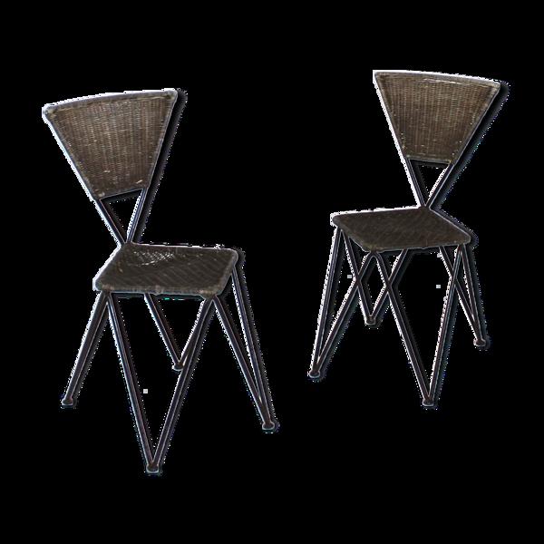 Paire de chaises Erben de Karl Fostel Senior de Sonett-Serie, Autriche