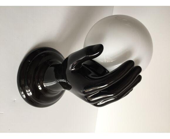 Applique forme main en céramique annees 70