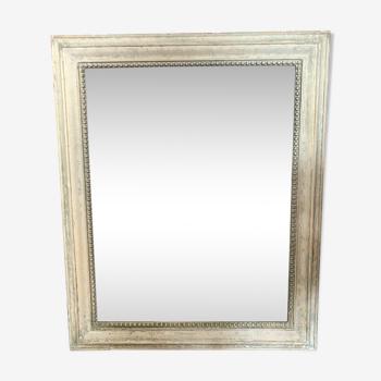 Miroir en bois vintage au mercure 100x81cm