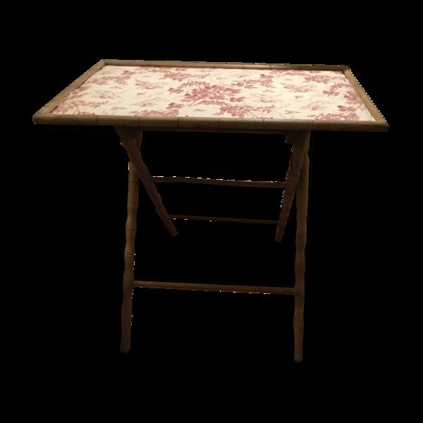 Table pliante en bois de la fin XIXème