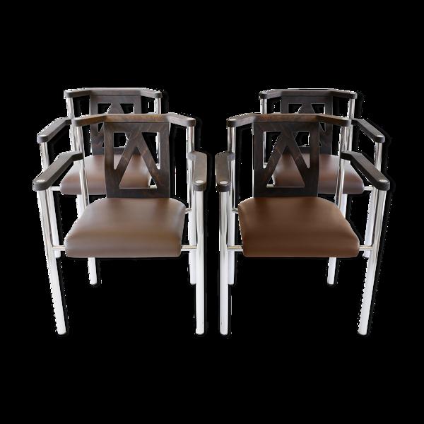 Lot de 4 fauteuils Kusch & CO, Allemagne années 80.