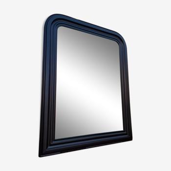 Miroir Louis Philippe patiné noir 82×64cm