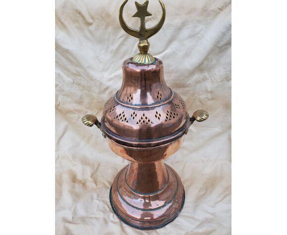 Vase cuivre et laiton sans doute ottoman 19e