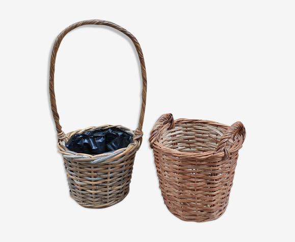 Duo de cache-pots en osier