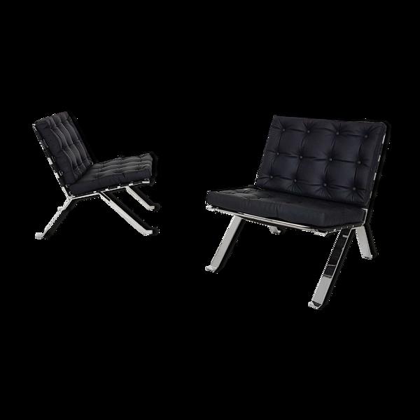 Selency Paire de fauteuils modèle Euro 1600 par Hans Eichenberger pour Girsberger