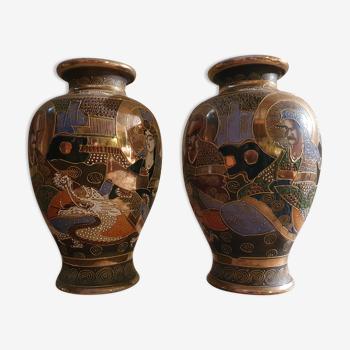 Paire de vase japonais satsuma
