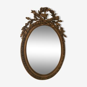Miroir ovale ancien style Louis XVI