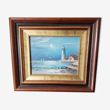 Peinture à l'huile paysage breton